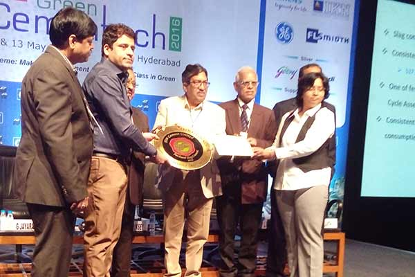 JSW Cement Wins Green Pro Award at Green Cementech 2016
