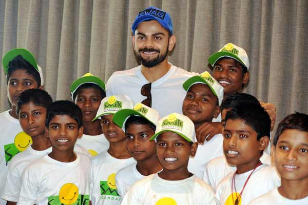 Virat Kohli Foundation in association with Smile Foundation to host the biggest Charity Gala Dinner to support children and youth empowerment
