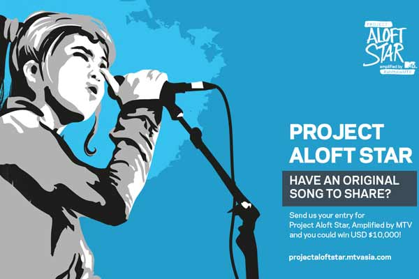 Aloft ignites music scene with third annual project Aloft Star, amplified by MTV in Asia Pacific