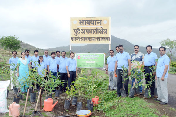 Garware Wallropes Ltd tree plantation drive