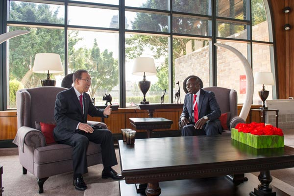 In Kenya, Ban calls for broader partnerships, sustainable investments to drive global development
