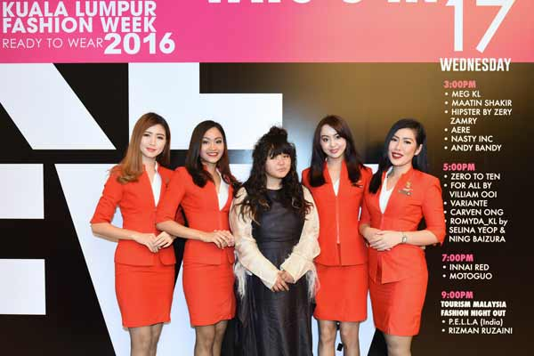 Local designer P.E.L.L.A showcased at Kuala Lumpur Fashion Week Ready to Wear with AirAsia