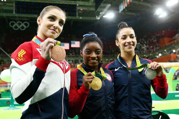 Biles wins women's all around gold