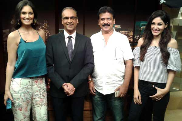 Bruna Abdullah,Pooja Chopra and director Anwer Khan went to promote their film Yea Toh Two Much Ho Gayaa on Komal Nahta show
