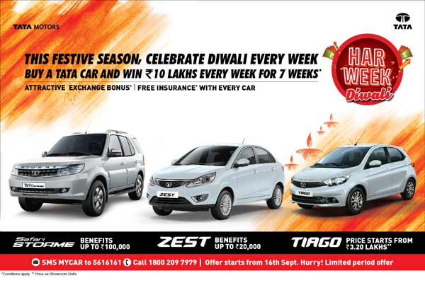 Tata Motors spreads festive cheer, introduces 'Har Week Diwali' a special festive offer for passenger vehicle customers