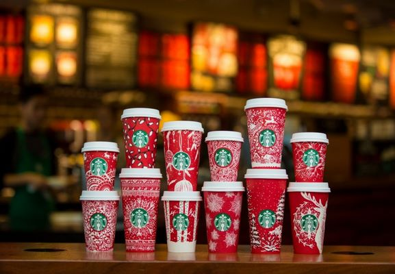 Starbucks Red Cups arrive in stores around the world featuring designs created by customers
