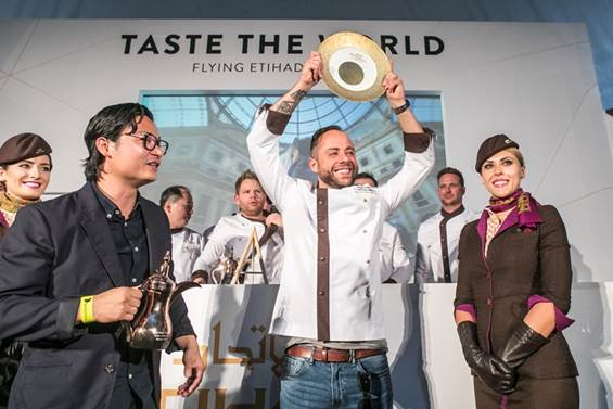 CHEF ANDRÉ GERRITS WINS 'TASTE THE WORLD' WITH ETIHAD AIRWAYS AT TASTE OF ABU DHABI