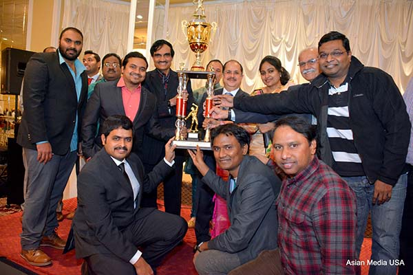 Cricket Tournament Trophies Presented at Christmas Banquet