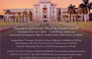 Centenary Celebration of Osmania University in Chicago -An Invitation to Participate