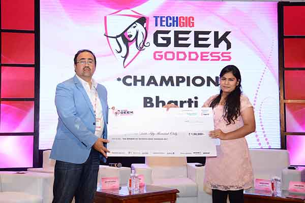 Bharti of Maharaja Surajmal Institute is TechGig's Geek Goddess