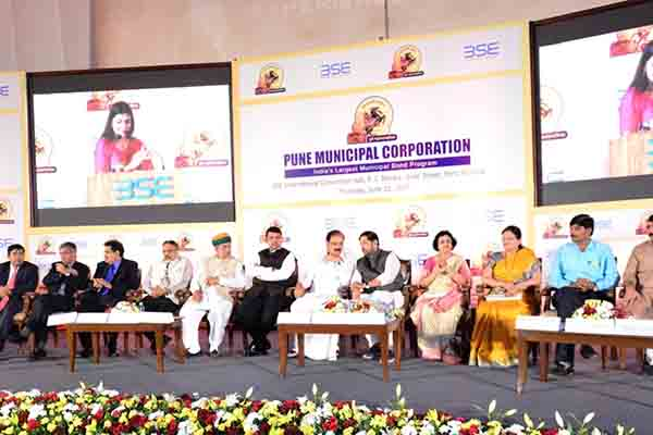 Pune Municipal Corporation lists India's Largest Municipal Bond Program for Pune 24*7 Water Supply project today at the Bombay Stock Exchange