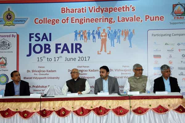 FSAI Job Fair at Bharati Vidyapeeth's College of Engineering at Lavale, Pune gets a whopping response
