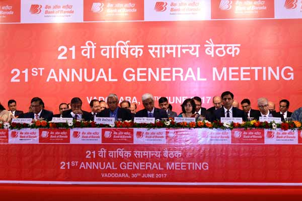 21st Annual General Meeting of the Shareholders of Bank of Baroda