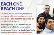 4500 Fish Knights pledge to Tata Power's 'Act for Mahseer' conservation campaign