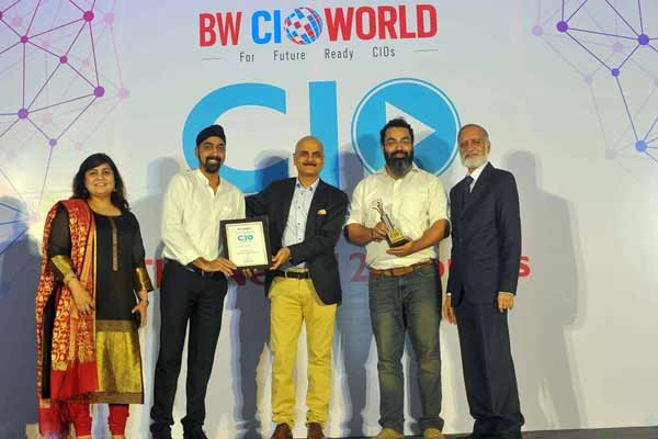 """NBHC honoured with """"The Best Mobility Project"""" award at the Businessworld CIO Imperatives"""