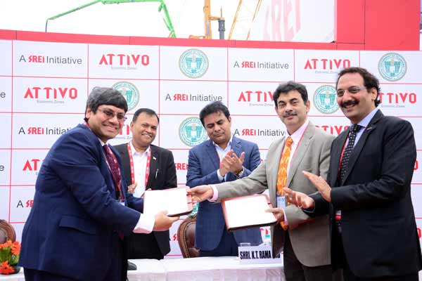 Attivo signs MoU with Telangana Government to develop infrastructure equipment manufacturing park