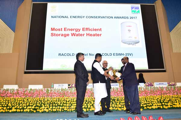 Racold wins Most Energy Efficient Appliance of the Year