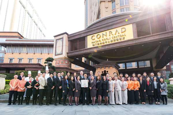 Conrad Macao Named Five-Star Hotel by Forbes Travel Guide in Official 2018 Star Ratings Announcement