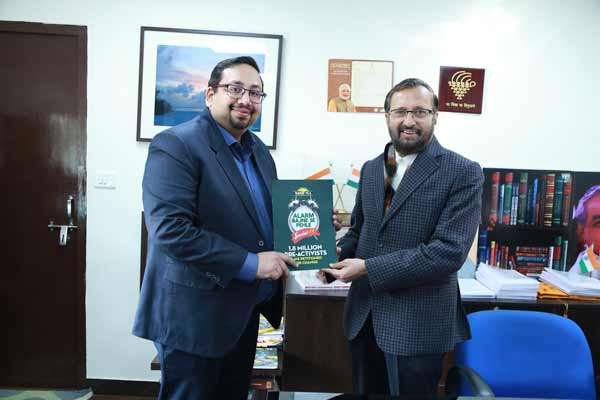 With nearly 1.8 million signatures, Tata Tea Jaago Re 2.0 petitions handed over to the Ministry of HRD – Government of India