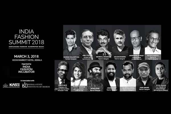 Kochi to Host India Fashion Summit 2018, The Premier