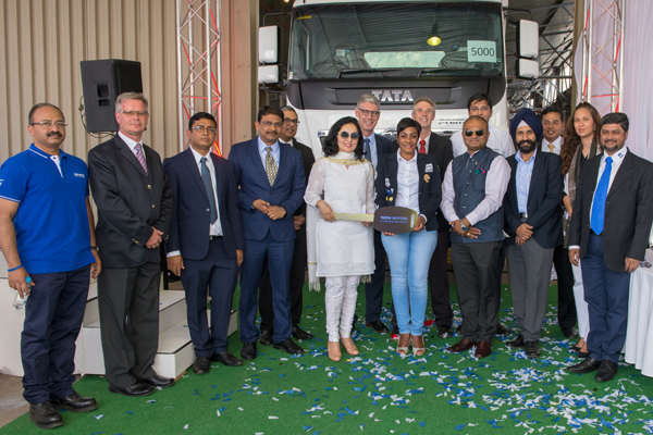 Tata Motors South Africa (Pty.) Ltd, rolls-out the 5000th vehicle from its facility in Rosslyn, Pretoria