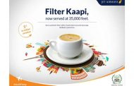 NOW, SAVOUR YOUR PERFECT CUP OF HOT FILTER COFFEE WITH JET AIRWAYS @ 35,000 FEET