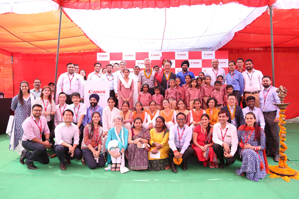 Canon India takes a dual leap in its journey of social development; adopts Village Maheshwari and partners with NGO 'Humana People to People India'