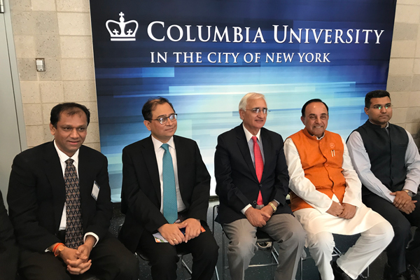 Salman Khurshid Addresses the Columbia University Students at the US-Indian Business Conference