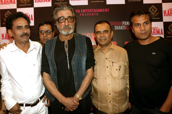 Shakti Kapoor launches the poster and teaser of his filmThe Journey Of Karma at The View,Andheri