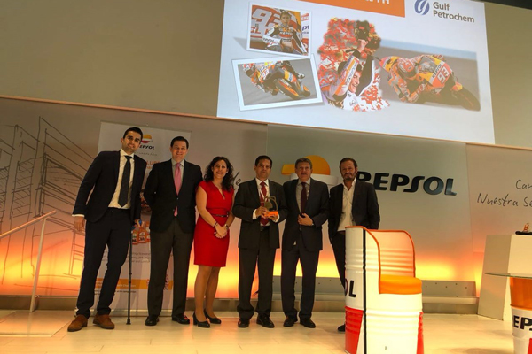 GP Petroleums Limited wins 'Greatest sales growth in lubricants' for Repsol Lubricants at the Global EMAI Awards 2017