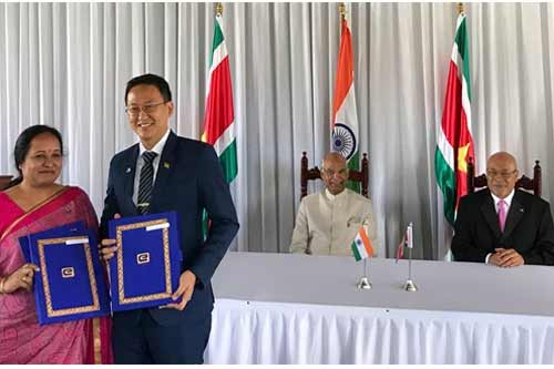 EXIM BANK, ON BEHALF OF THE GOVERNMENT OF INDIA, EXTENDS TWOLINES OF CREDIT [LOC] AGGREGATING USD 31 MILLION TO THE GOVERNMENT OF REPUBLIC OF SURINAME