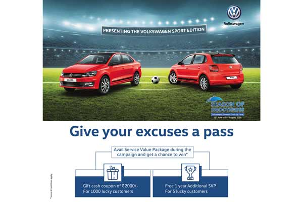 Volkswagen Launches New Extended Warranty option and a Service Value package this monsoon season