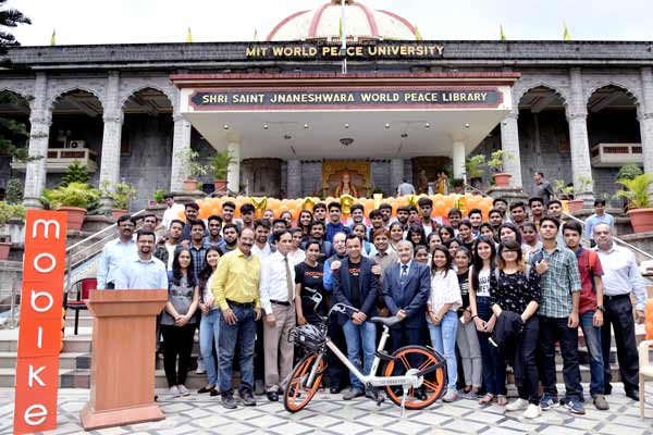 Mobike brings dockless bike sharing to Pune based MIT-World Peace University (WPU)