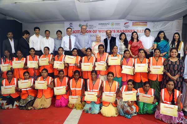 Unskilled women labourers will now work as mason