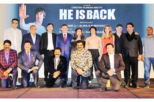 Grand launch of martial arts exponent Chitah Yajnesh Shetty's Hollywood film titled 'He is Back' in Dubai