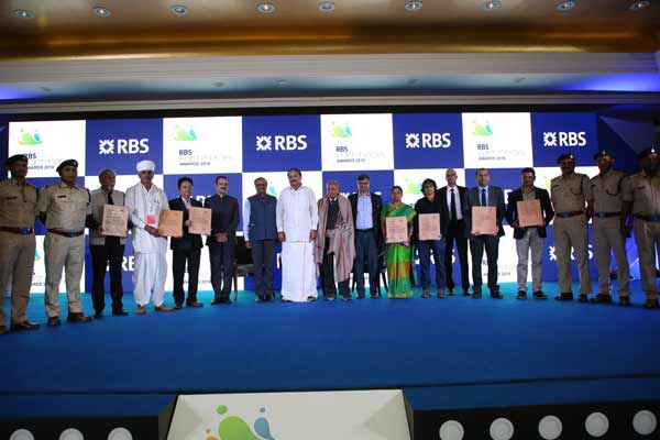 Honourable Vice President of India, Shree Venkaiah Naidu felicitates 'RBS Earth Heroes' for their distinguished work in the field of environment and ecology