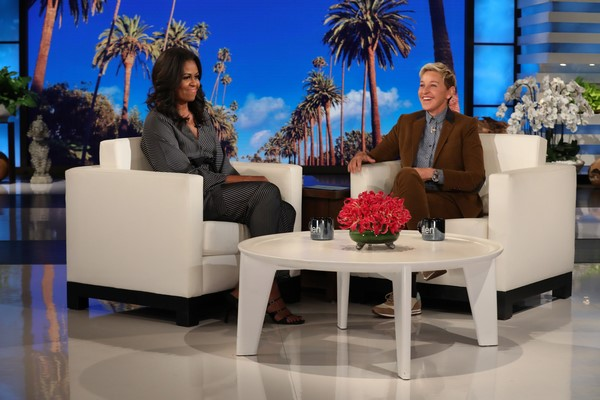 Michelle Obama in Ellen's Hot Seat, talks about her first kiss and life in the White House
