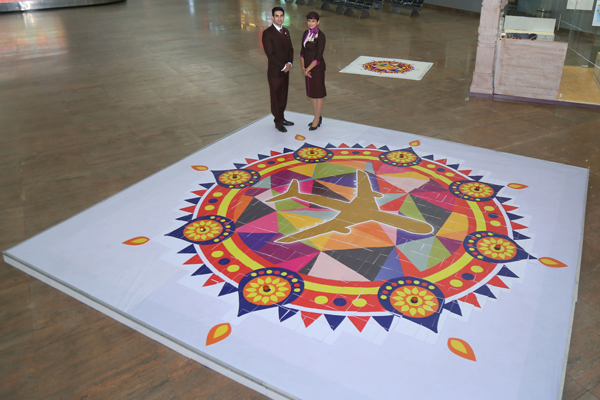 Etihad Airways celebrates Diwali with guests travelling to India