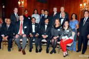 Chicago Medical Society President Dr. Vemuri S. Murthy welcoming members and guests at the Annual Holiday Reception