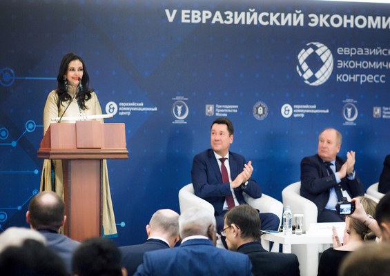 Shabnam Asthana speaks on furthering bilateral relations between India & Russia at The 5th Eurasian Economic Congress