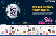 Get Flat 50% off on over 100 brands at KORUM Mall – 29thand 30thDec 2018