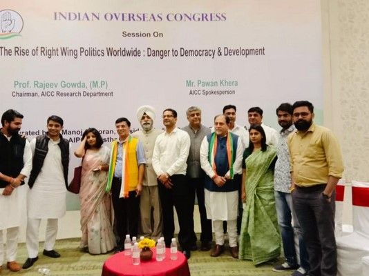 Indian Overseas Congress leaders are campaigning in India