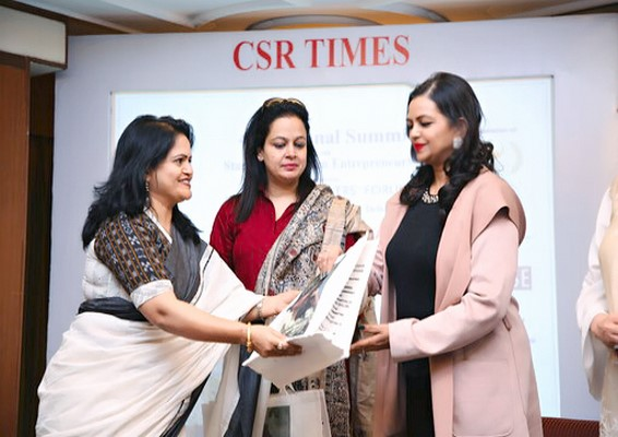 Shabnam Asthana & eminent women leaders discuss the Role of Women in New India at the 46th National Summit at New Delhi