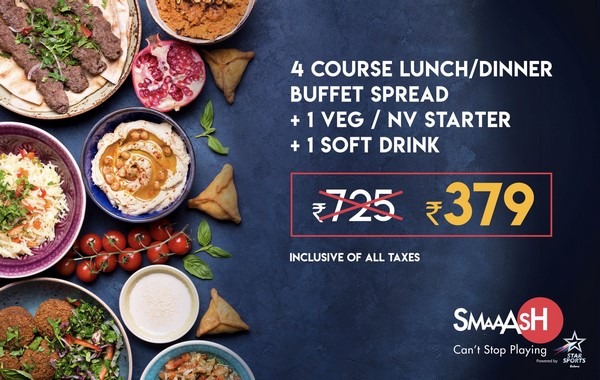 Buffet Fever for Rs. 379 Only @ SMAAASH Cyber Hub