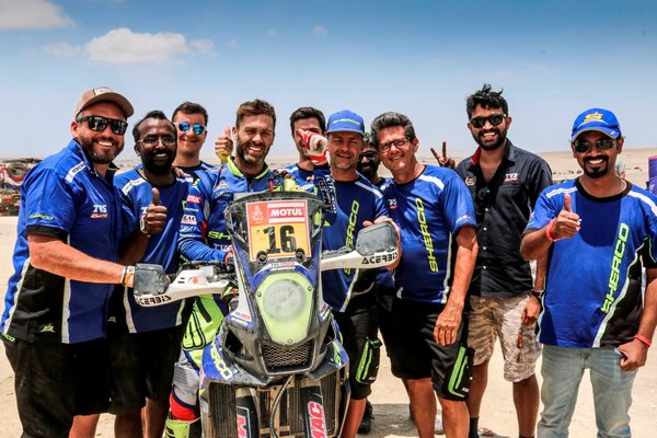 Sherco TVS Rally Factory Team's Michael Metge Wins Stage 9 At Dakar 2019