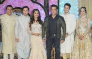 Salman Khan At Wedding Reception Of Azhar Morani And Tanya Seth