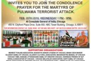 Indian Diaspora in Chicago Calls For a Condolence Prayer for the Martyrs of Pulwama Terrorist Attack