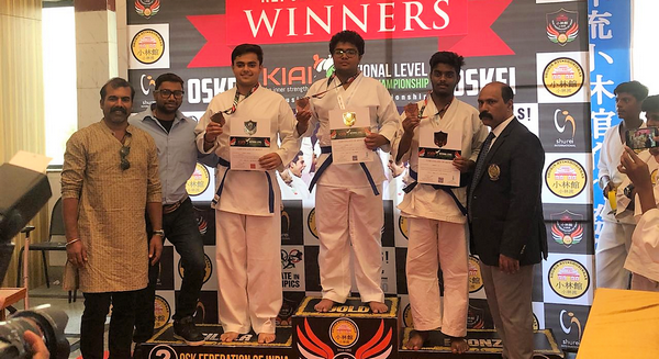 Indus students wins Gold in national level Karate championship