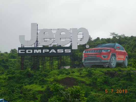 Outdoor Installation for Jeep India at Mumbai Pune Expressway that gets honoured in the 'Asia Book of Records' as the Largest  Billboard Installation