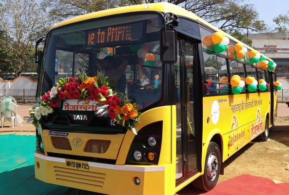 Tata Motors delivers six women-friendly 9m Ultra Midi buses to PMPML